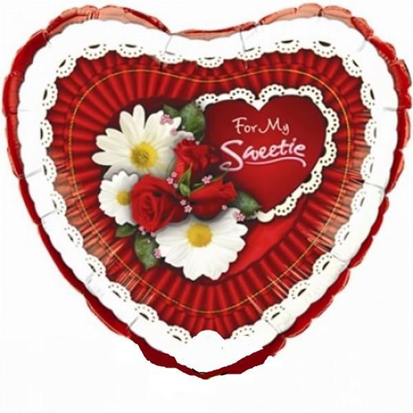 For My Sweetie Herz Folienballon - 45cm