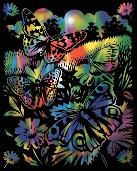 Reeves Gravurfolien Regenbogen Schmetterling