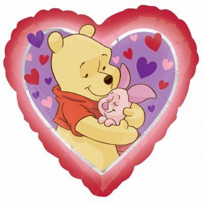 Mini Folienballon Winnie Pooh Love - 23cm
