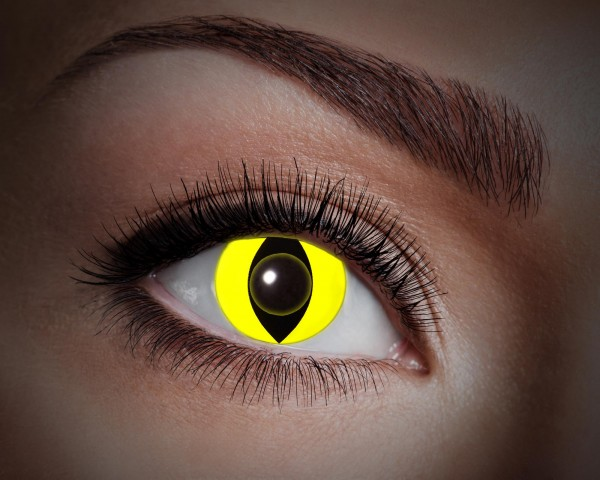 Eyecatcher UV Flash 1 Monatslinsen Yellow cat
