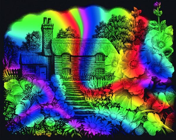 Reeves Gravurfolien Regenbogen Landhaus