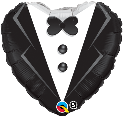 Frack Herz Hochzeit Folienballon