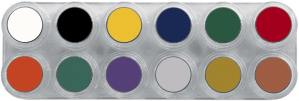 Grimas Crème Make-up Pure Palette F - 12 x 2,5 ml