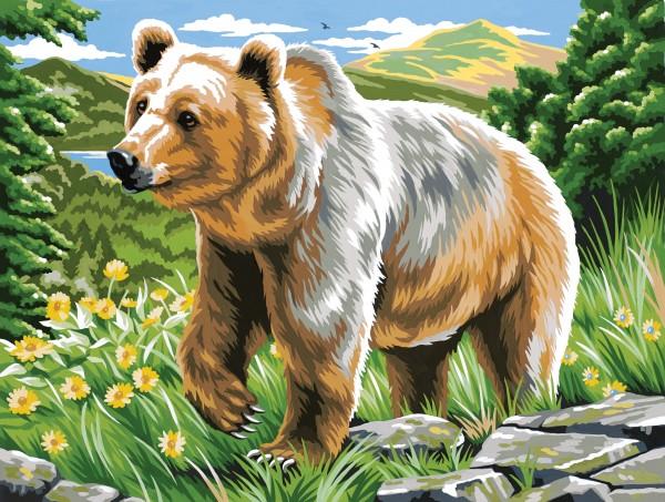 Reeves Malen nach Zahlen Braunbär