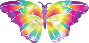 Leuchtender Schmetterling Folienballon