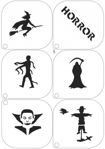 Grimas Schminkschablone Halloween Horror Nr. 5