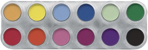 Grimas Eyeshadow - Rouge Palette 12 RA - 12 x 2g