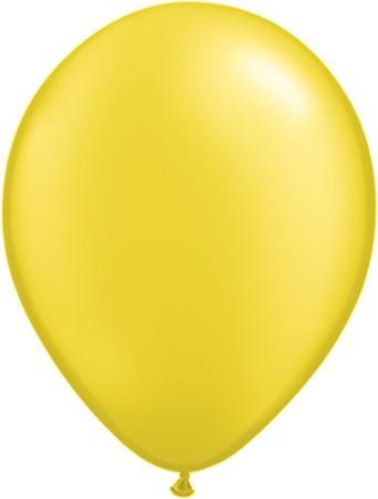 Latex Luftballons Pearl Citrine Yellow (Zitronengelb) 10St. - 27,5 cm