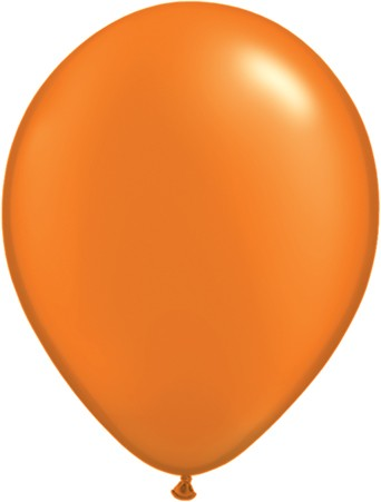 Latex Luftballons Pearl Mandarin Orange (Orange) 10St. - 27,5 cm
