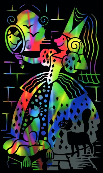 Reeves Mini Gravurfolien Regenbogen Prinzessin