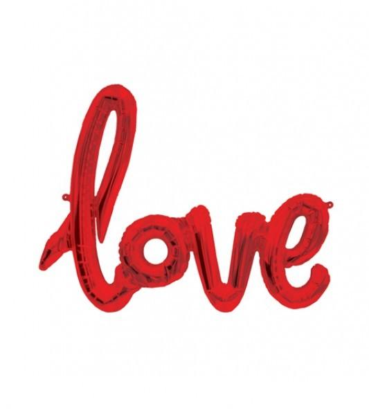 Schriftzug Folienballon Set rot LOVE 40''/ 102cm