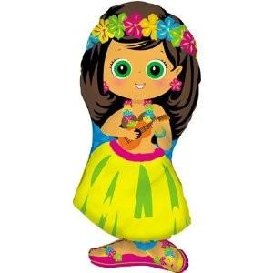 Hawaii Hula Girl Mädchen Folienballon - 86cm