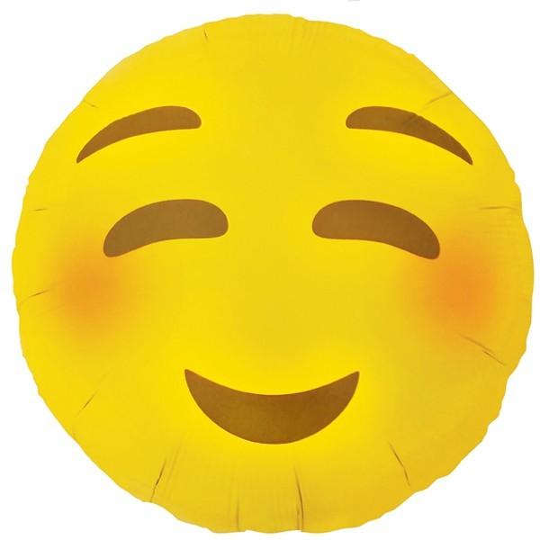 Smiley Face gelb Emoji Blushing Folienballon