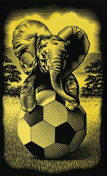 Reeves Mini Gravurfolien Gold Elefant