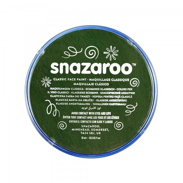 Snazaroo Schminkfarbe Dunkelgrün 18 ml