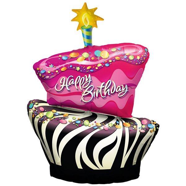 Geburtstagstorte Funky Zebra Stripe - 102cm