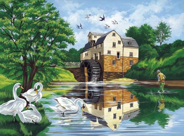 Reeves Malen nach Zahlen Wassermühle