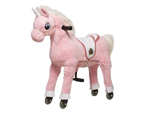 Animal Riding Einhorn Pink - Medium / Large, inklusive Decke