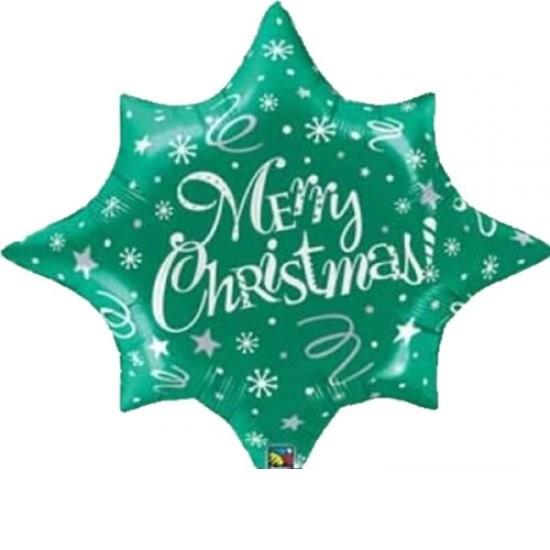 Merry Christmas Stern Folienballon - ca 81 cm