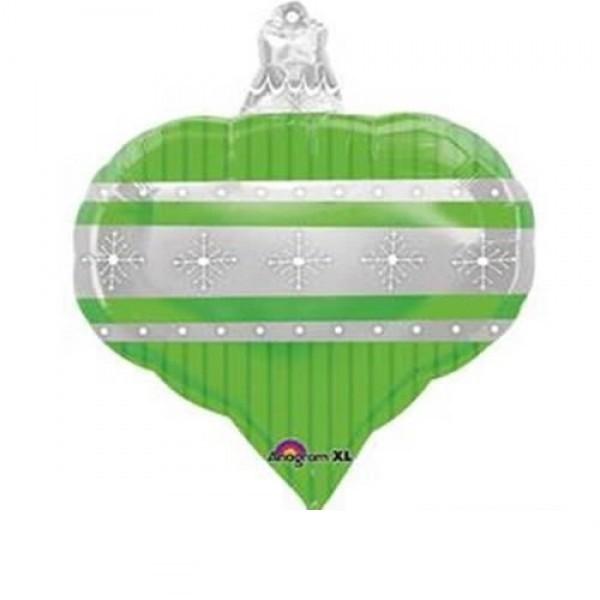 grüne Weihnachtskugel Folienballon - 45cm