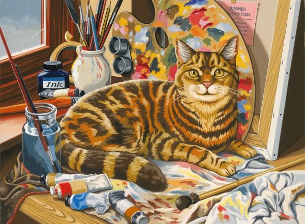 Reeves Malen nach Zahlen Ruhende Katze