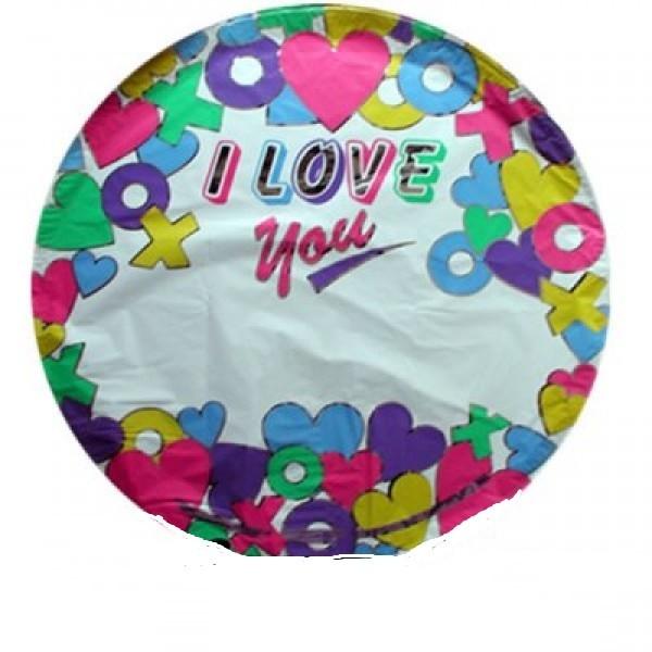 I Love you Folienballon - zum beschriften - 45cm