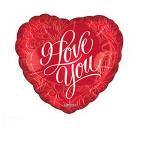 Herz I LOVE YOU Folienballon - 45cm