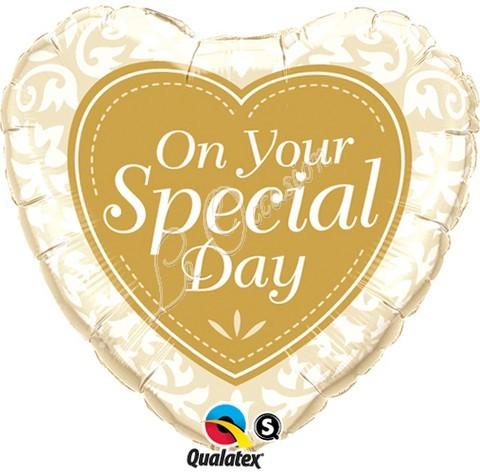 On your Special Day Herz Folienballon - 45 cm